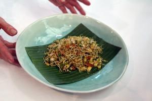 3.- Ensalada con lentejas germinadas