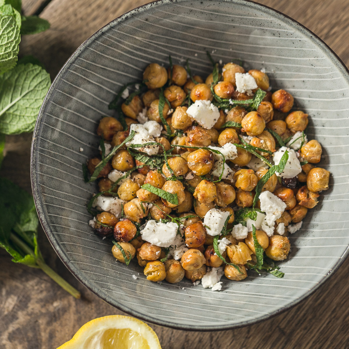 garlic chickpeas vegetarianos