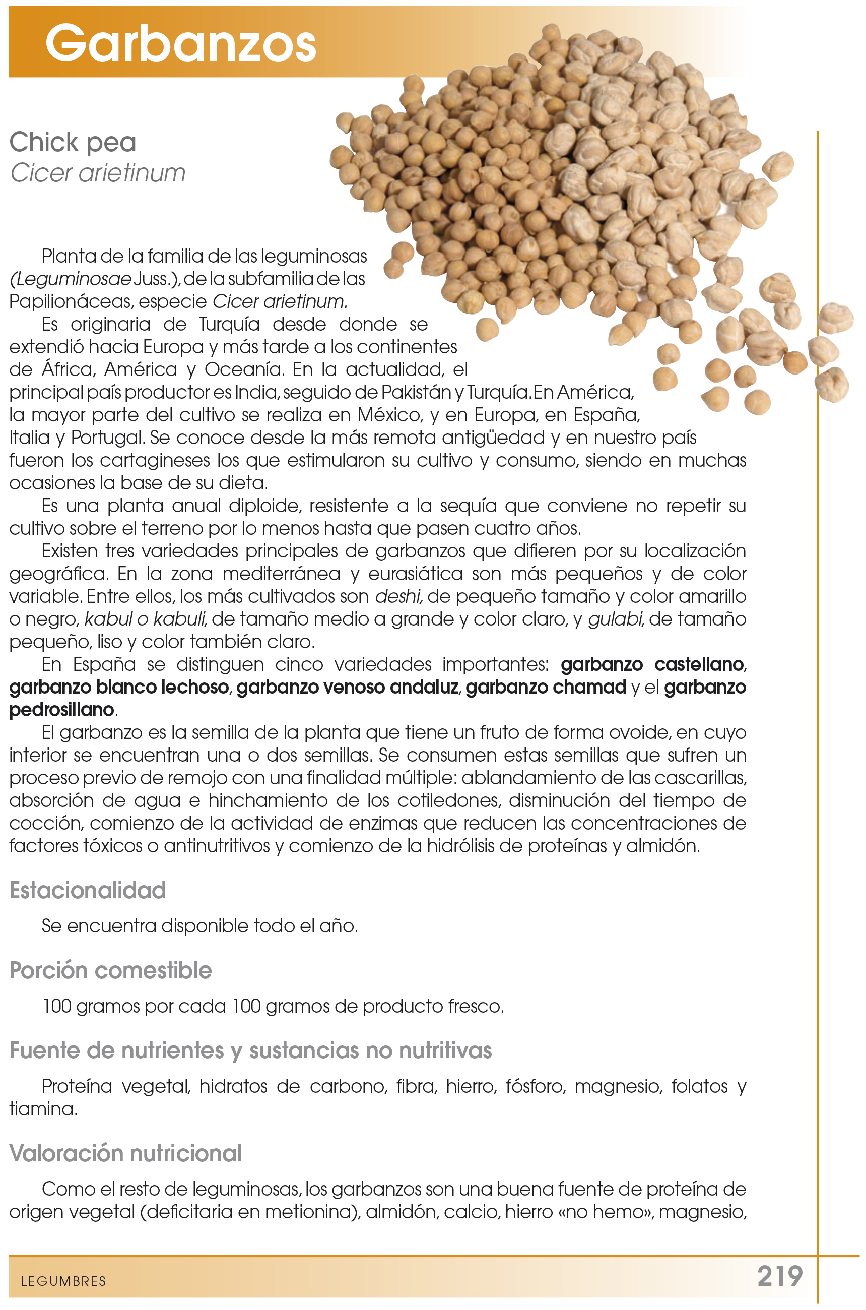 nutricional garbanzos